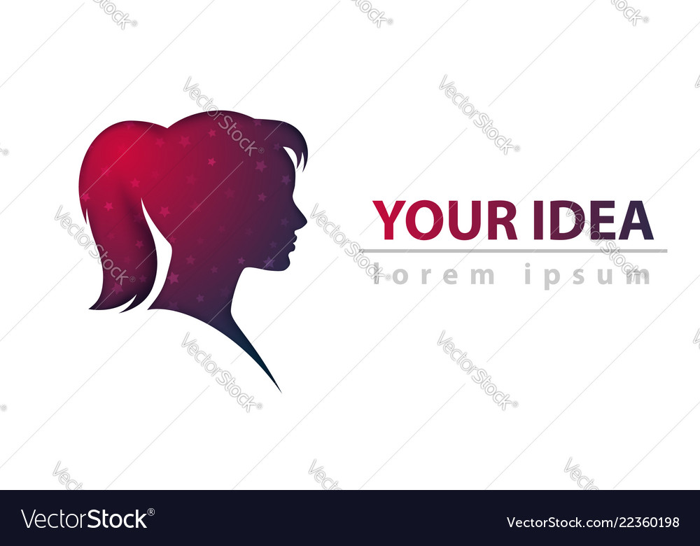 Head girl abstract paper template
