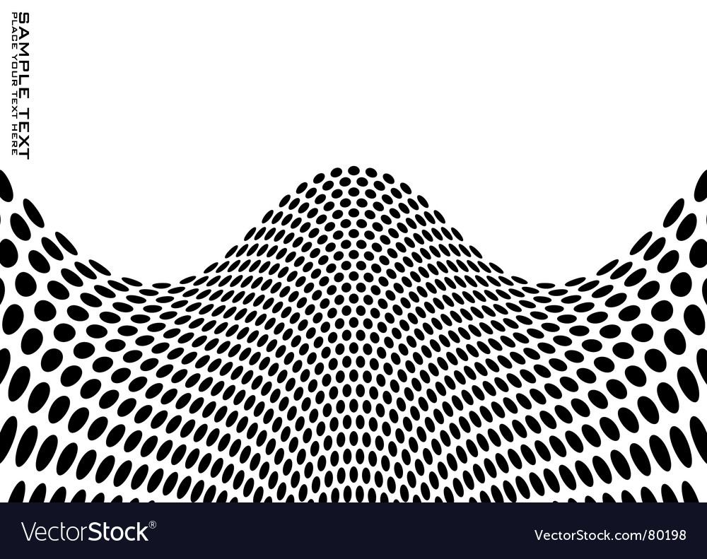 Hilly dot vector image