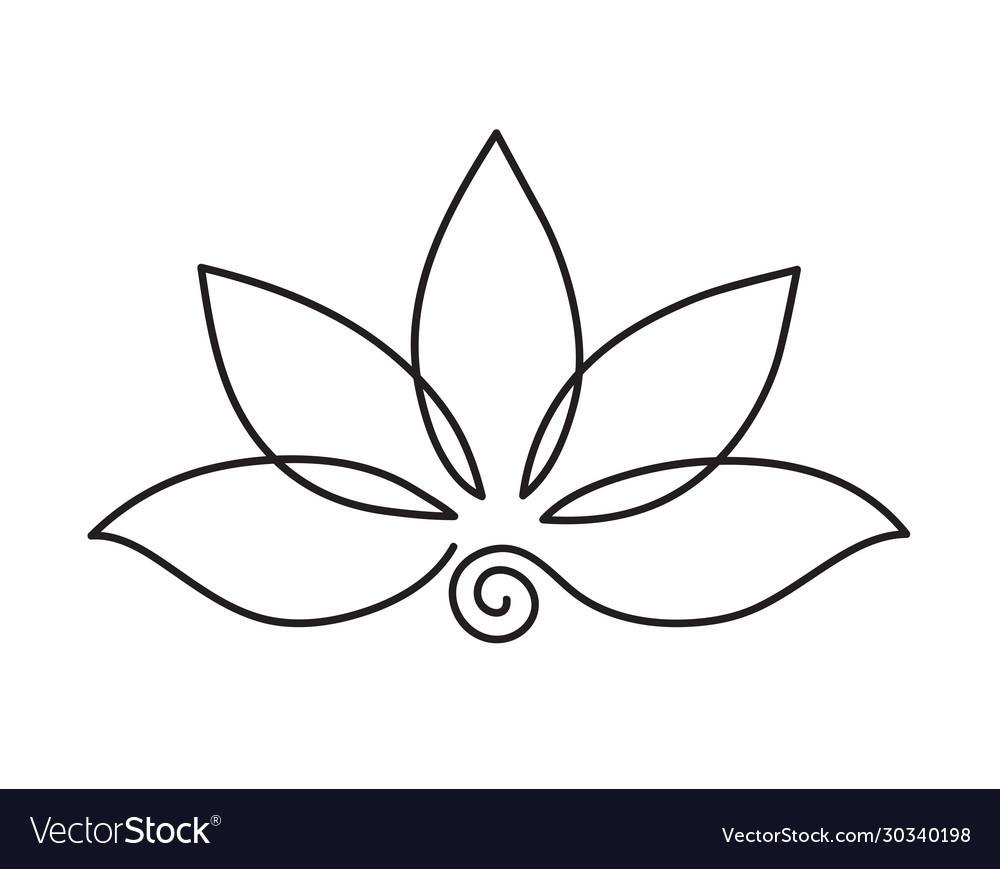 Lotus icon logo outline