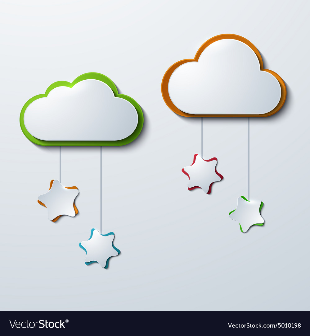 Modern clouds with stars