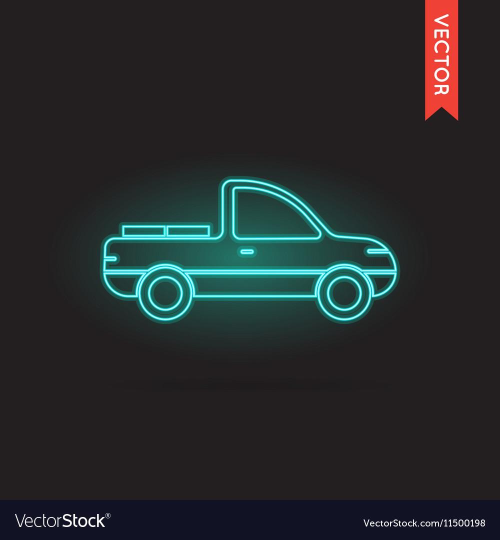 Neon Car Icon