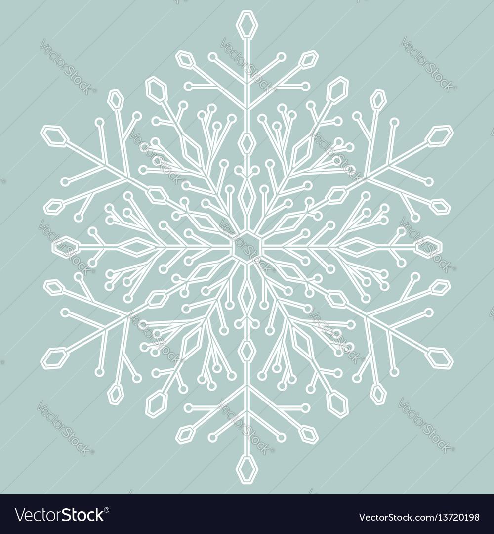 Pretty round snowflake
