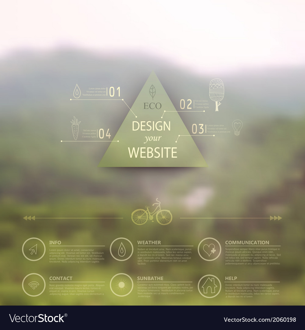 Web and mobile interface template Corporate