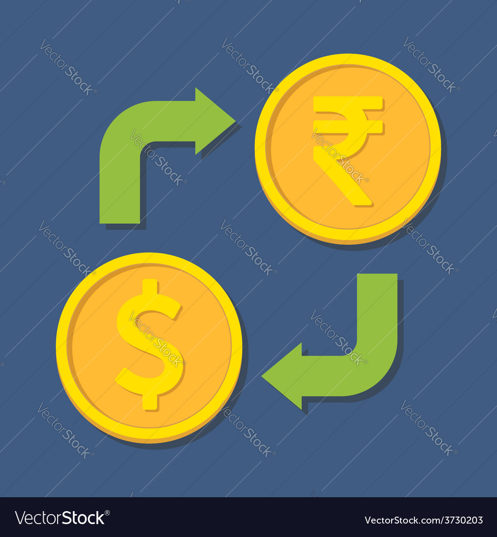 Currency Exchange Dollar And Ru Vector Image