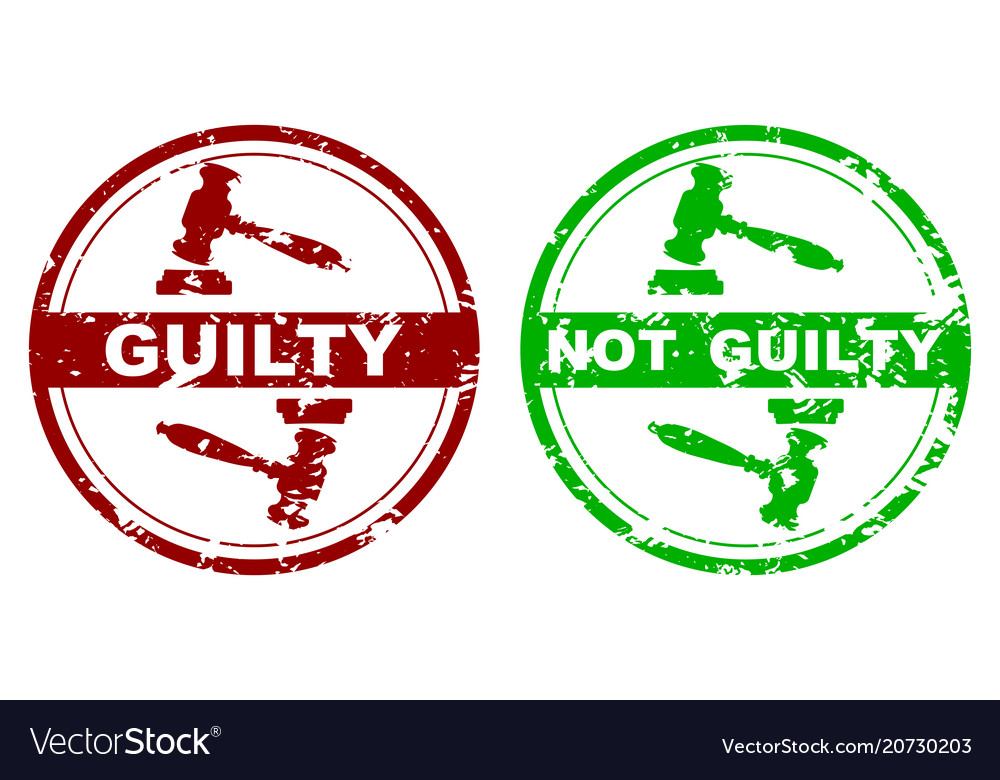 Rubber stamp guilty and not guilty