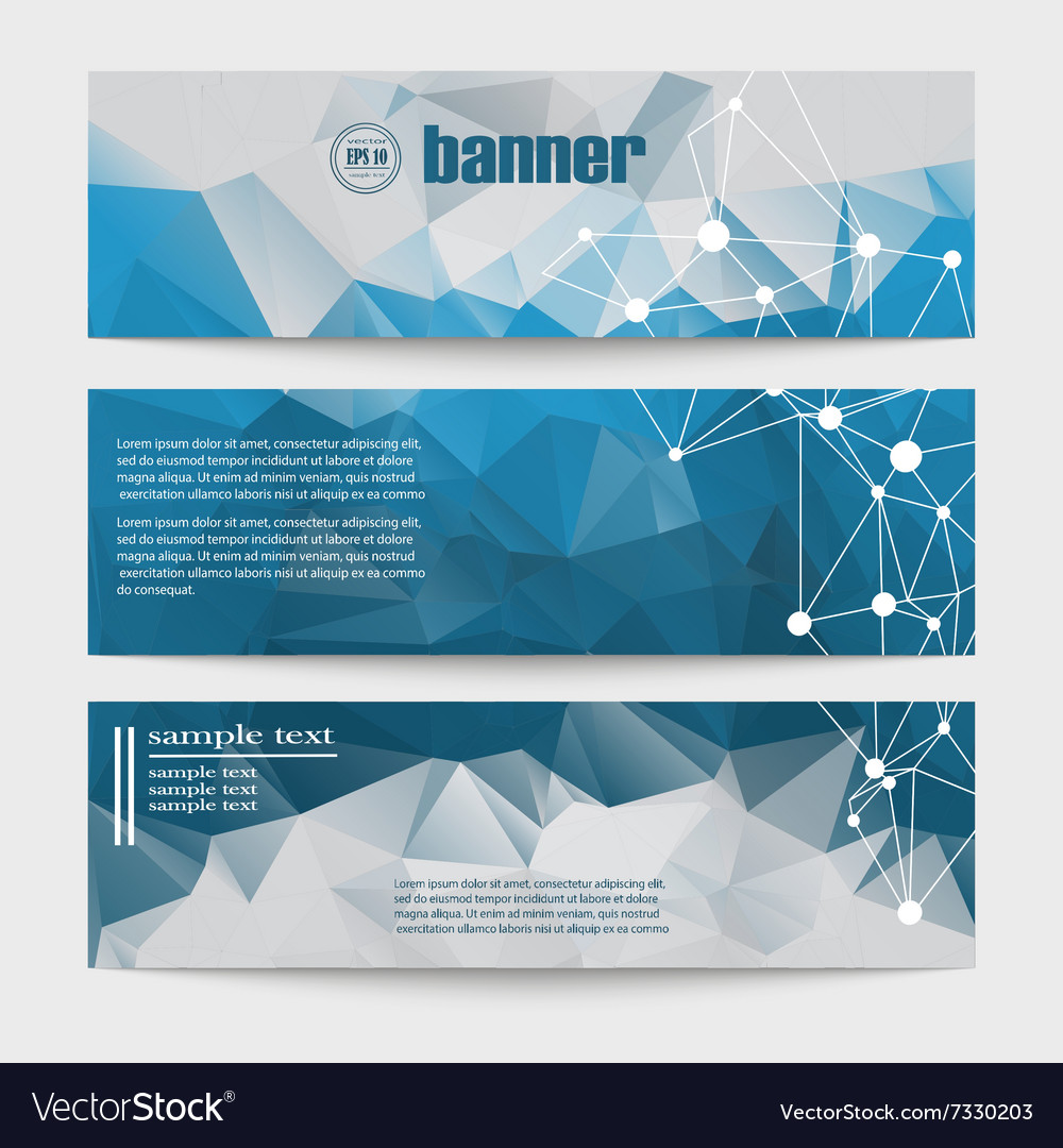 Set of templates for design of banners