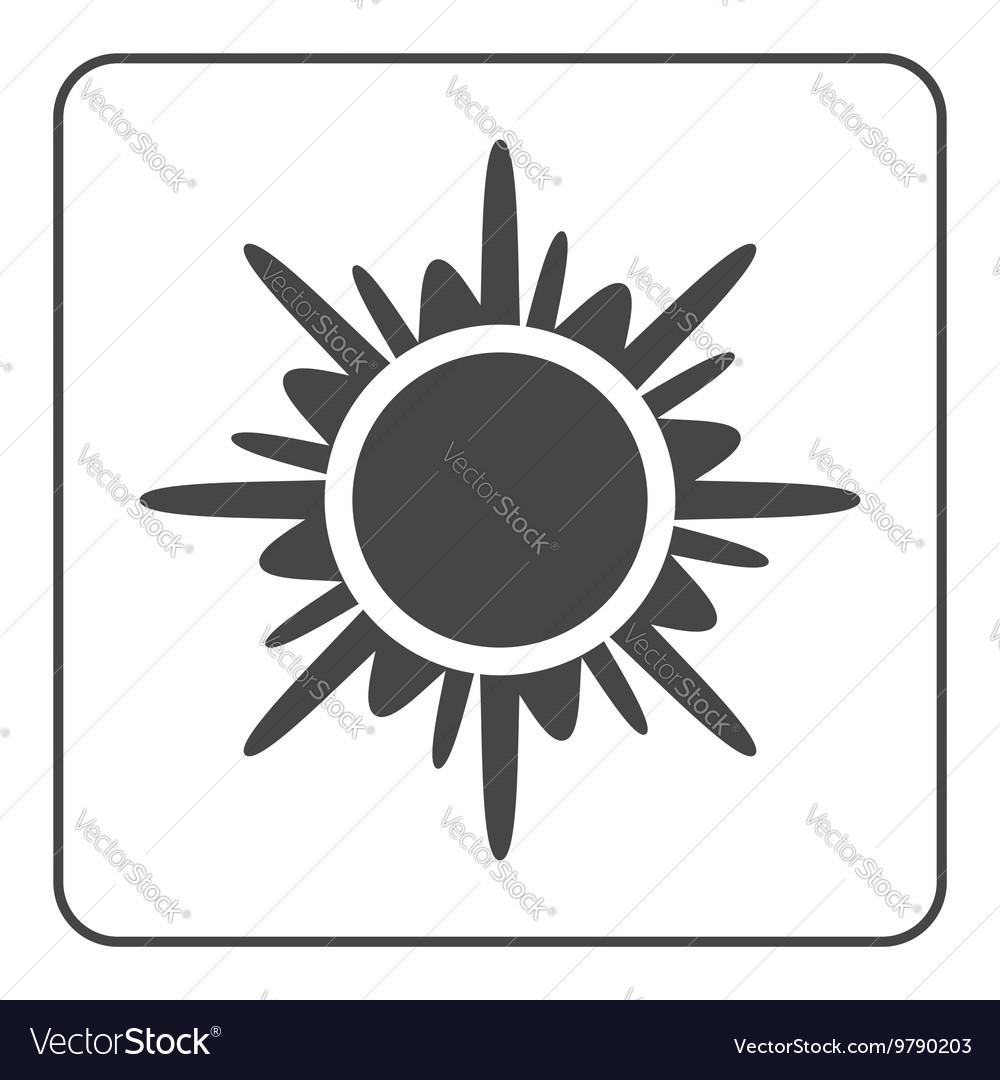 Sun icon Black design element