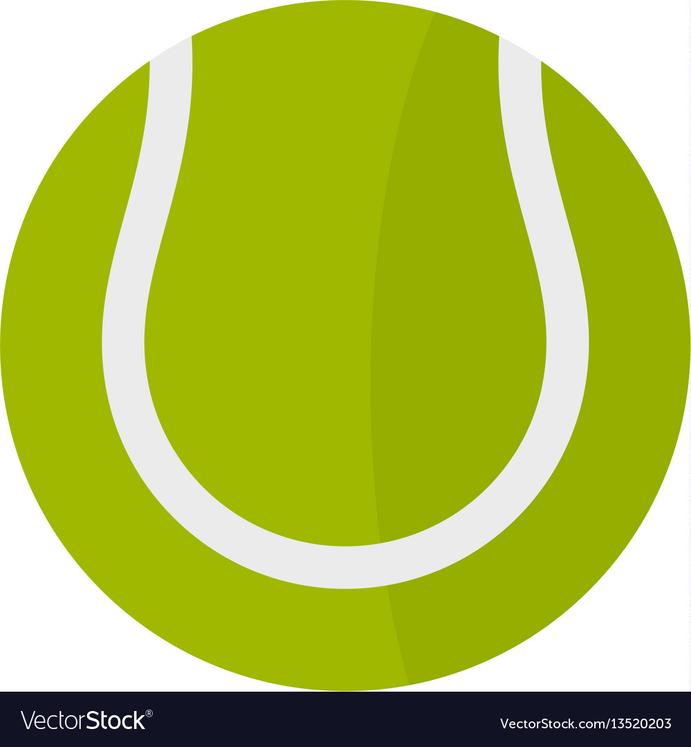 tennis ball icon flat style royalty free vector image