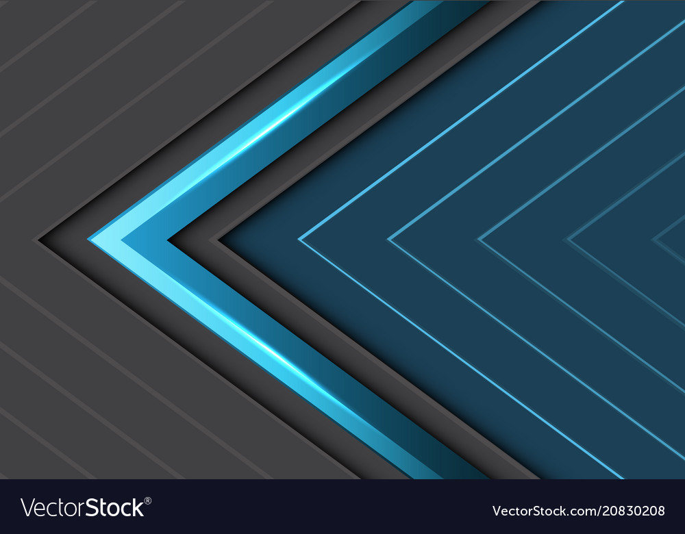 Abstract blue gray arrows direction design