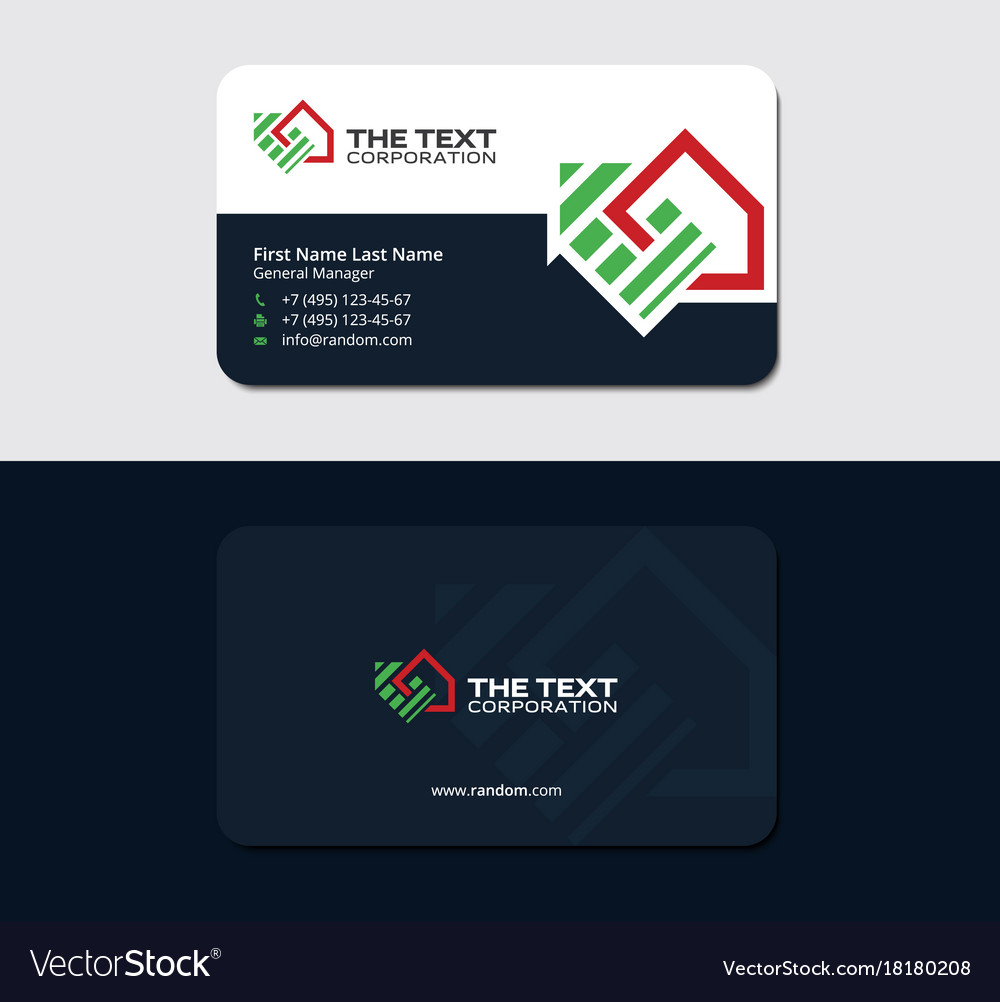 Business card for lease and property management Vector Image