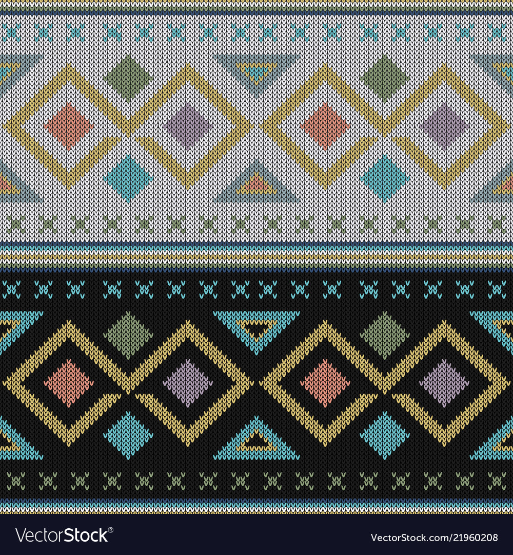 Geometric abstract knitted pattern abstract