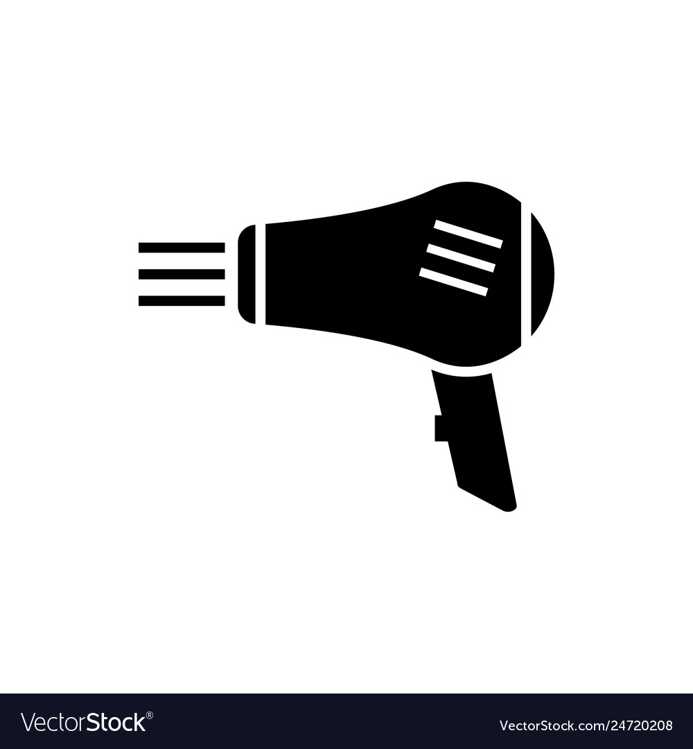 Hairdryer graphic design template isolated
