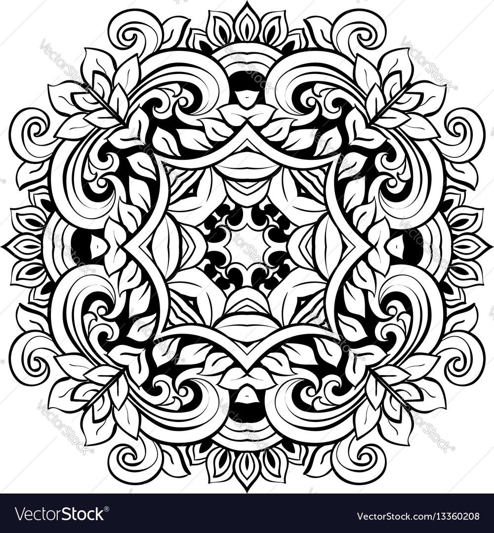Mandala floral decorative element