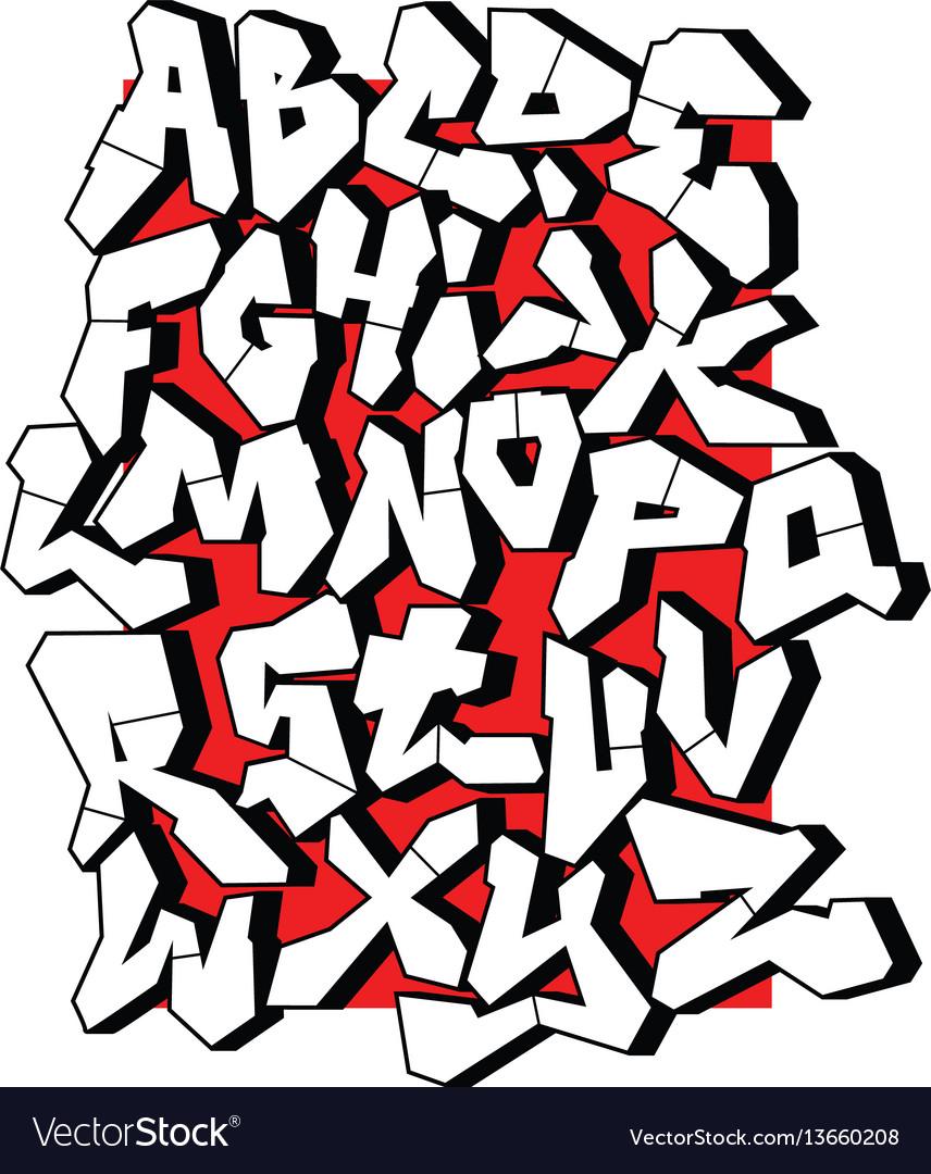 Straight lines font editable alphabet