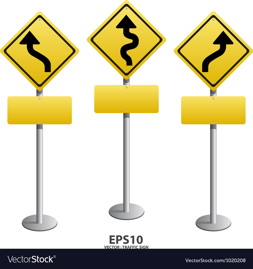 Traffic sign Zigzag