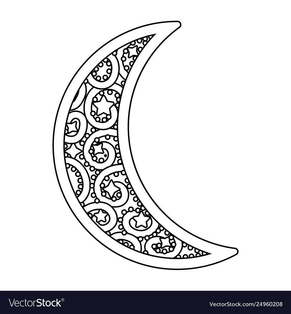 waning moon icon black and white royalty free vector image vectorstock
