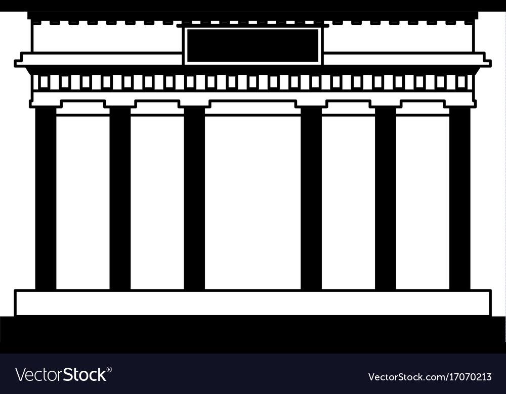 Ancient greek building icon image vector image on VectorStock