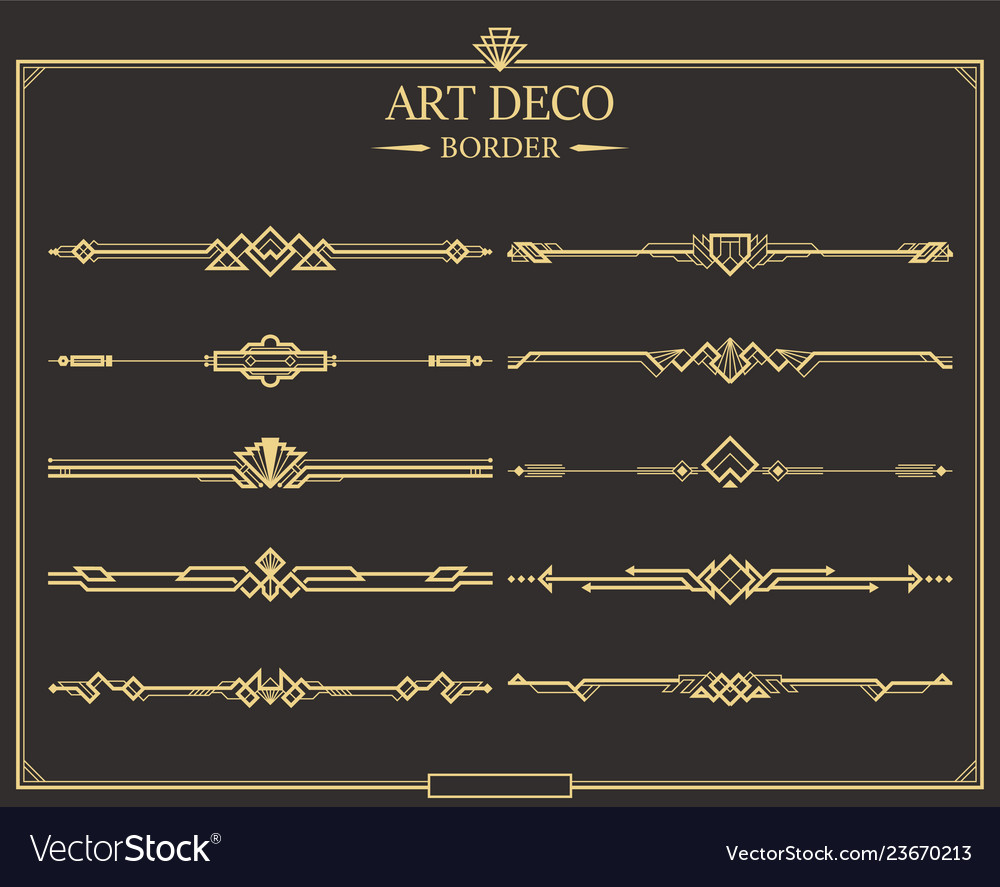 Art Deco Border 10 Object 01 Royalty Free Vector Image Art deco borders illustrations & vectors. vectorstock