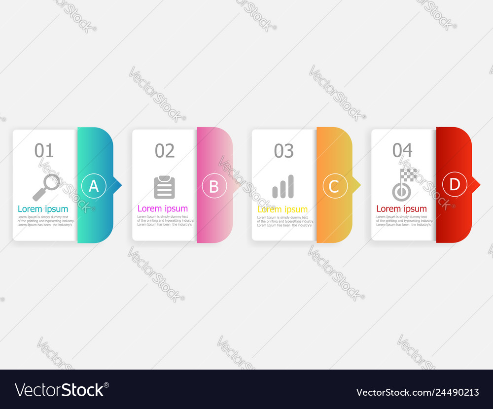 Horizontal bar infographic background