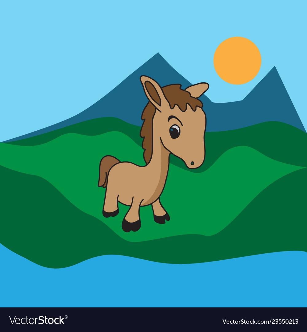Little horse cartoon