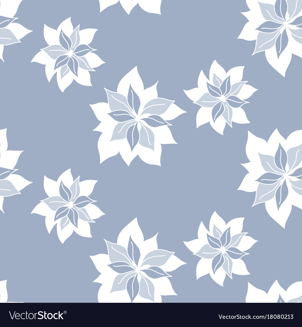 Seamless pattern with abstract blue flowers vector image izmirmasajfo