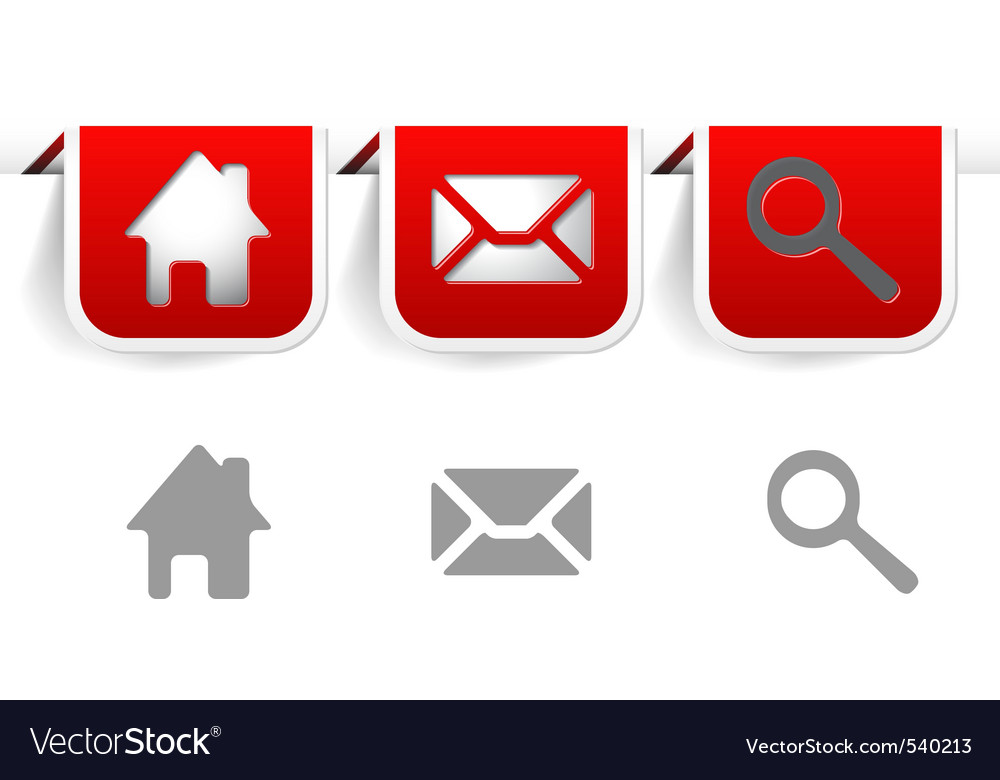 Web icons bookmarks vector image