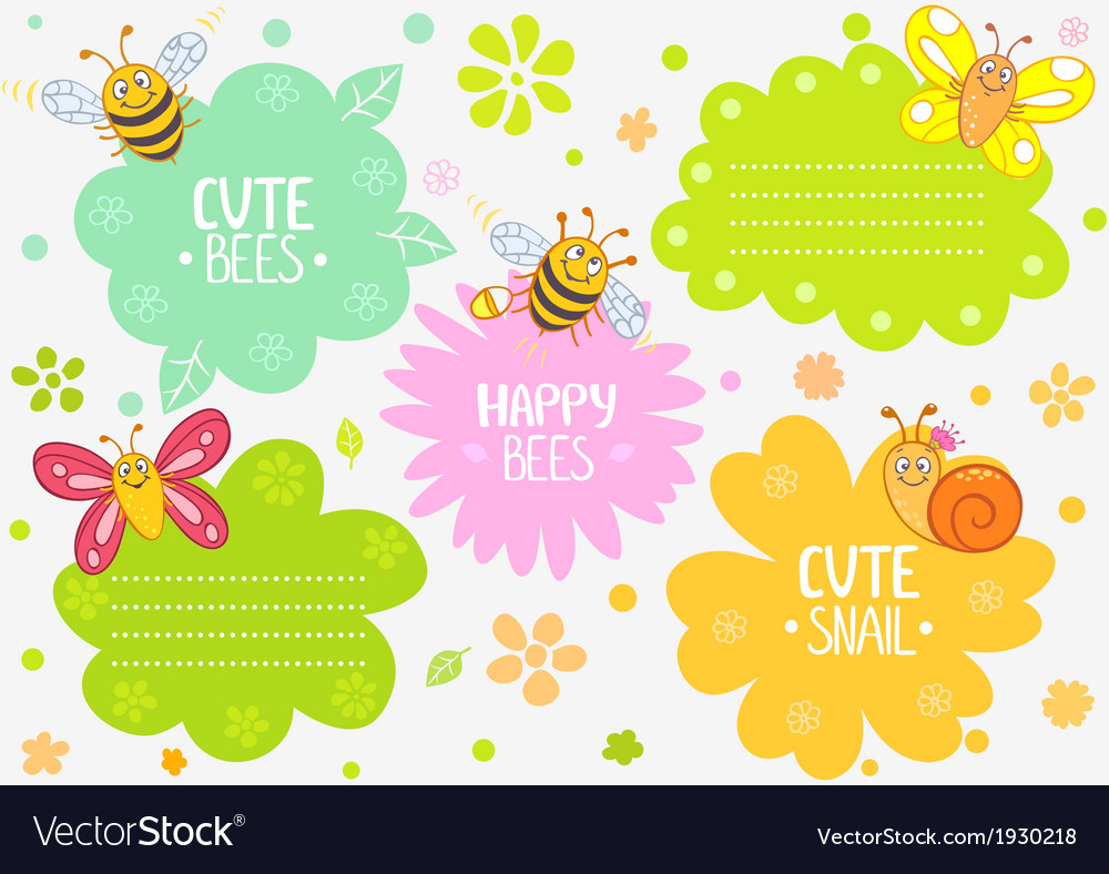 Cute insects vector image
