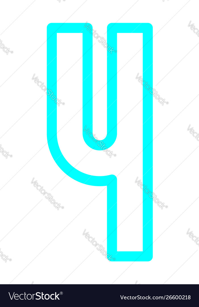 Font bright alphabet from colored outline