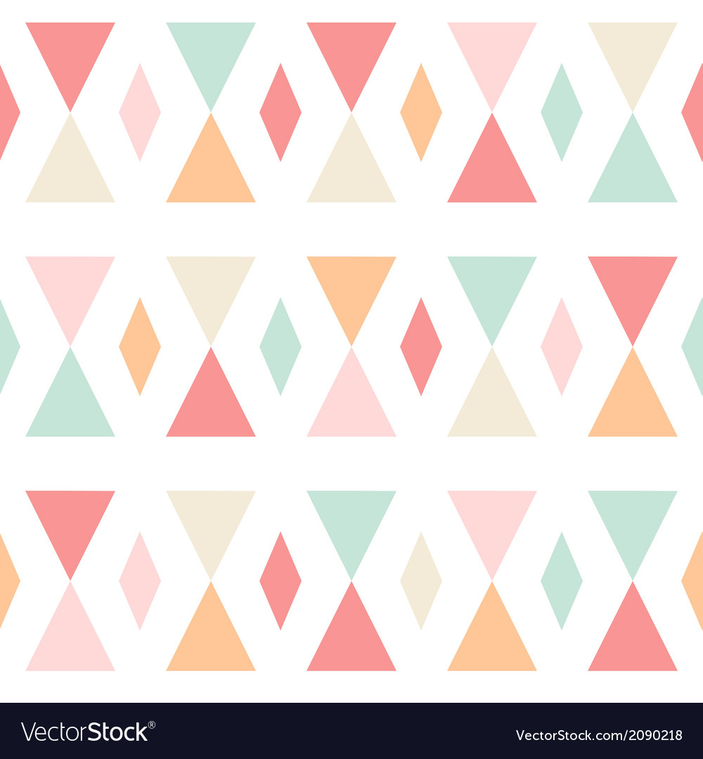 Geometric abstract triangles seamless pattern