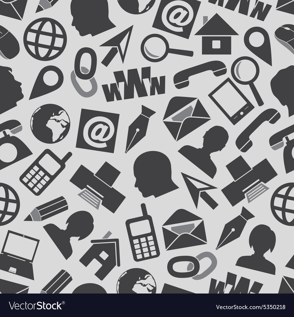 Icons For Business Card And Everyday Use Seamless Vector Image