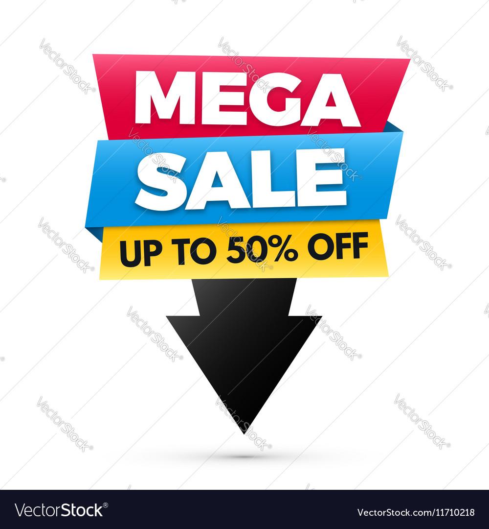 Mega sale banner big sale poster design