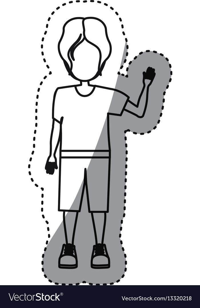 People boy icon image vector image