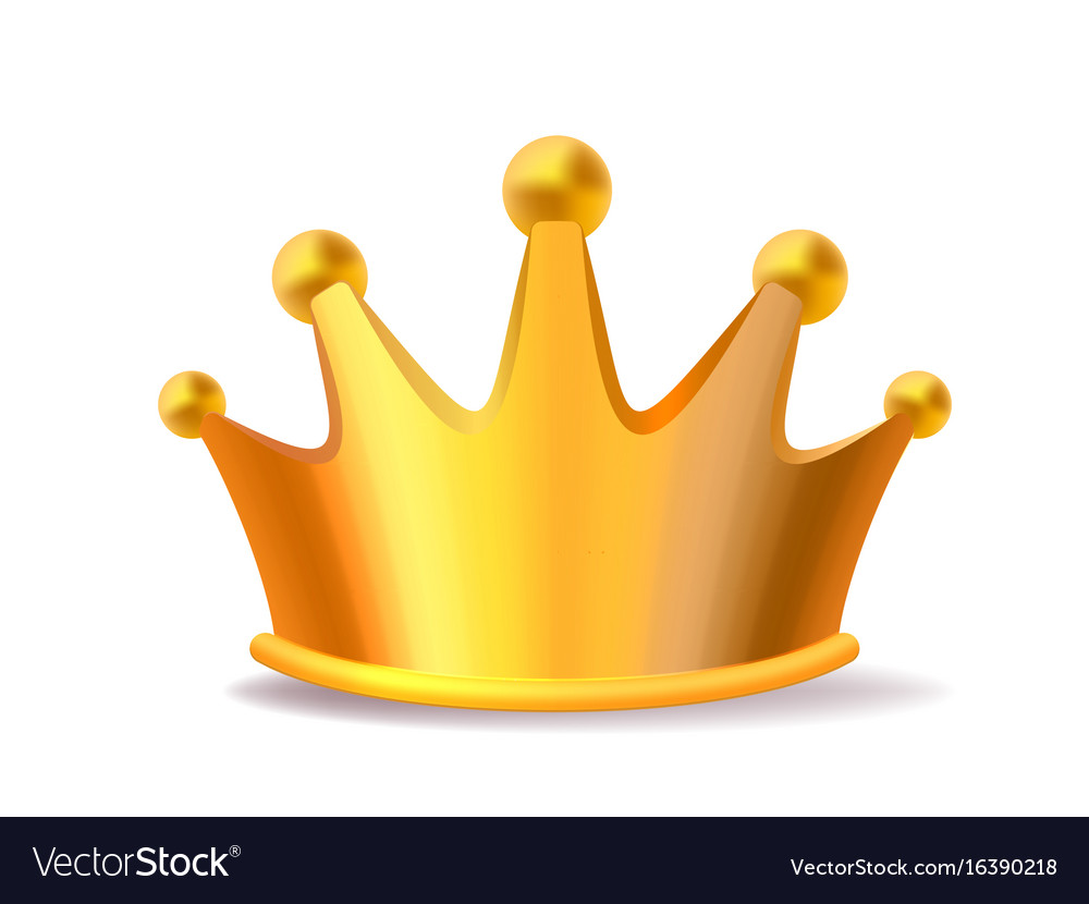 Realistic of shiny golden metal king crown vector image thecheapjerseys Image collections