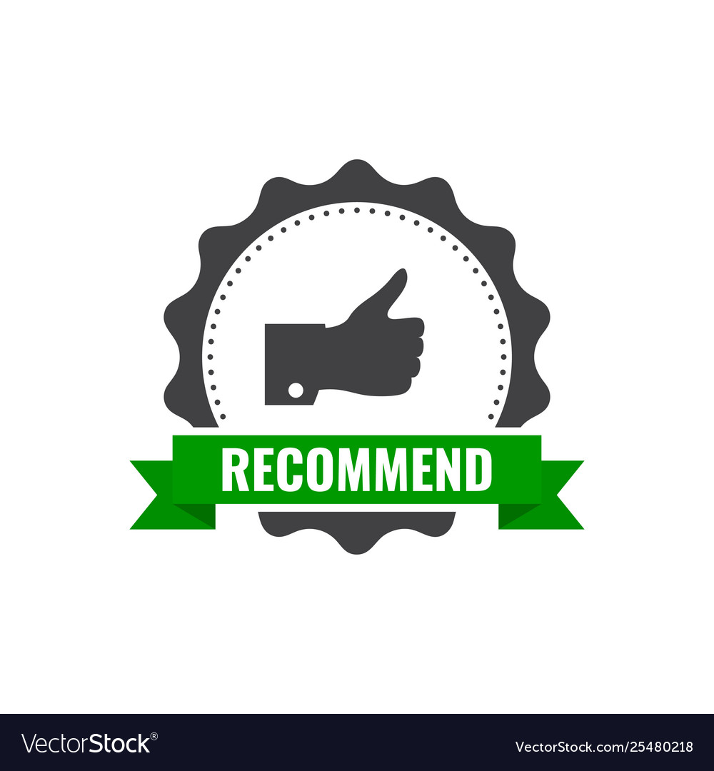 Recommended stamp sticker seal round banner