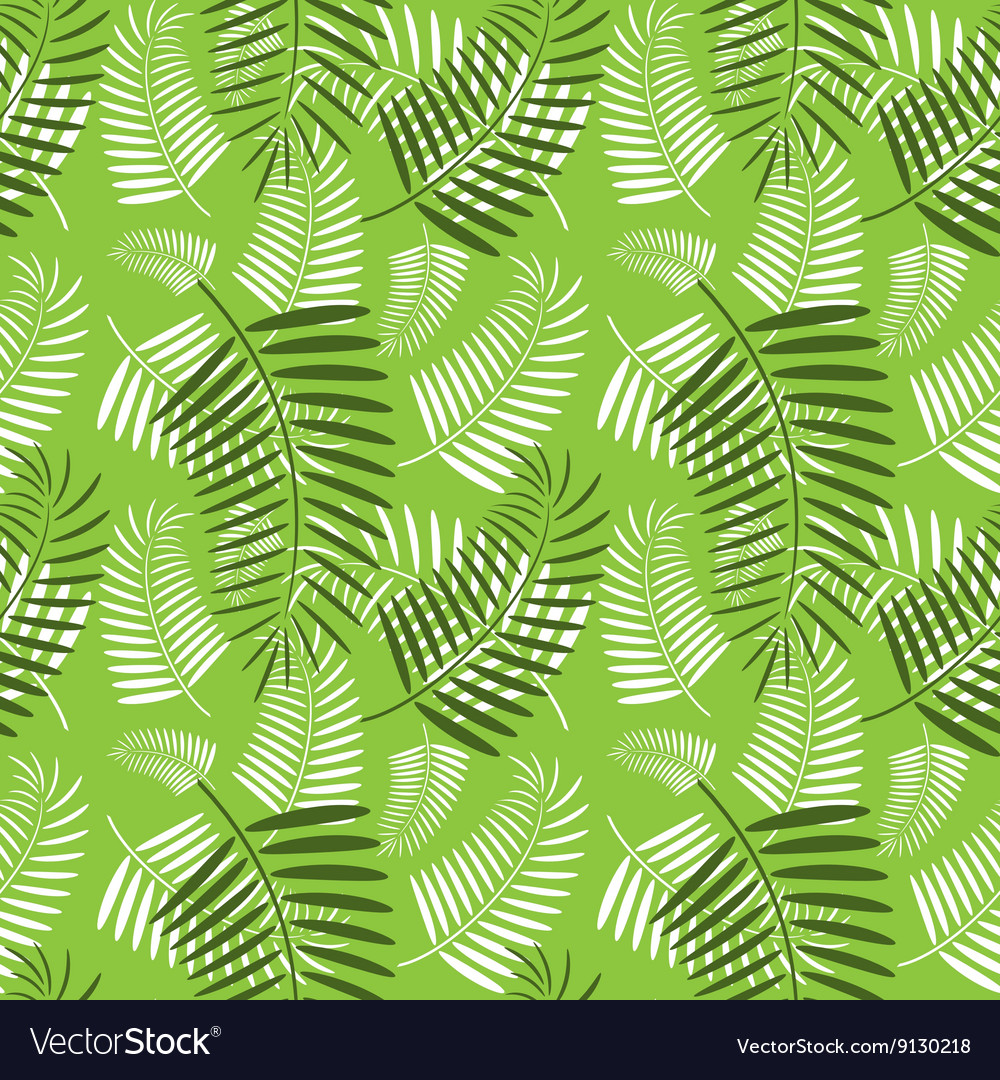 seamless palm tree leaves pattern royalty free vector image