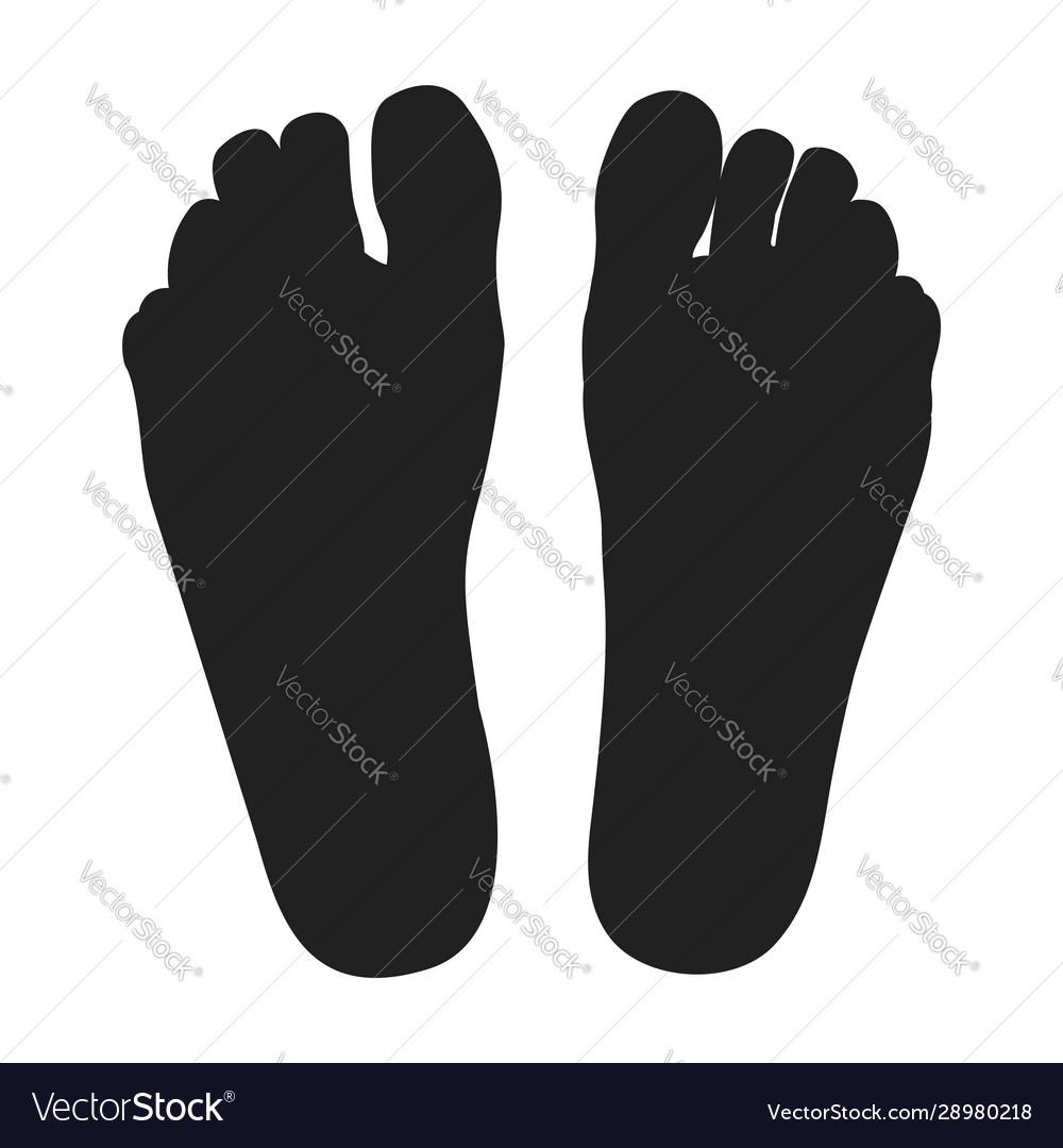 two black feet royalty free vector image vectorstock vectorstock