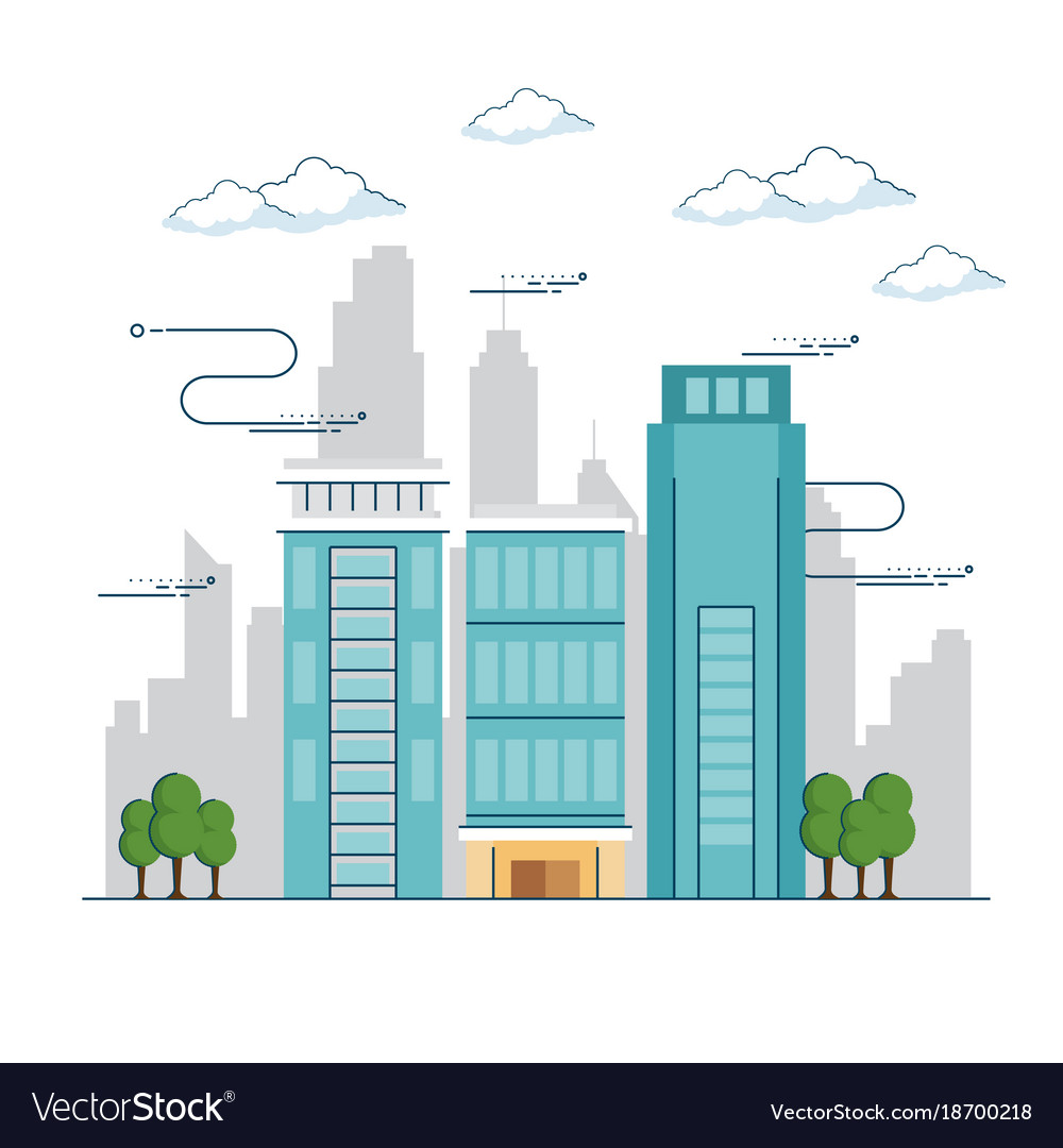 Urban city landscape vector image