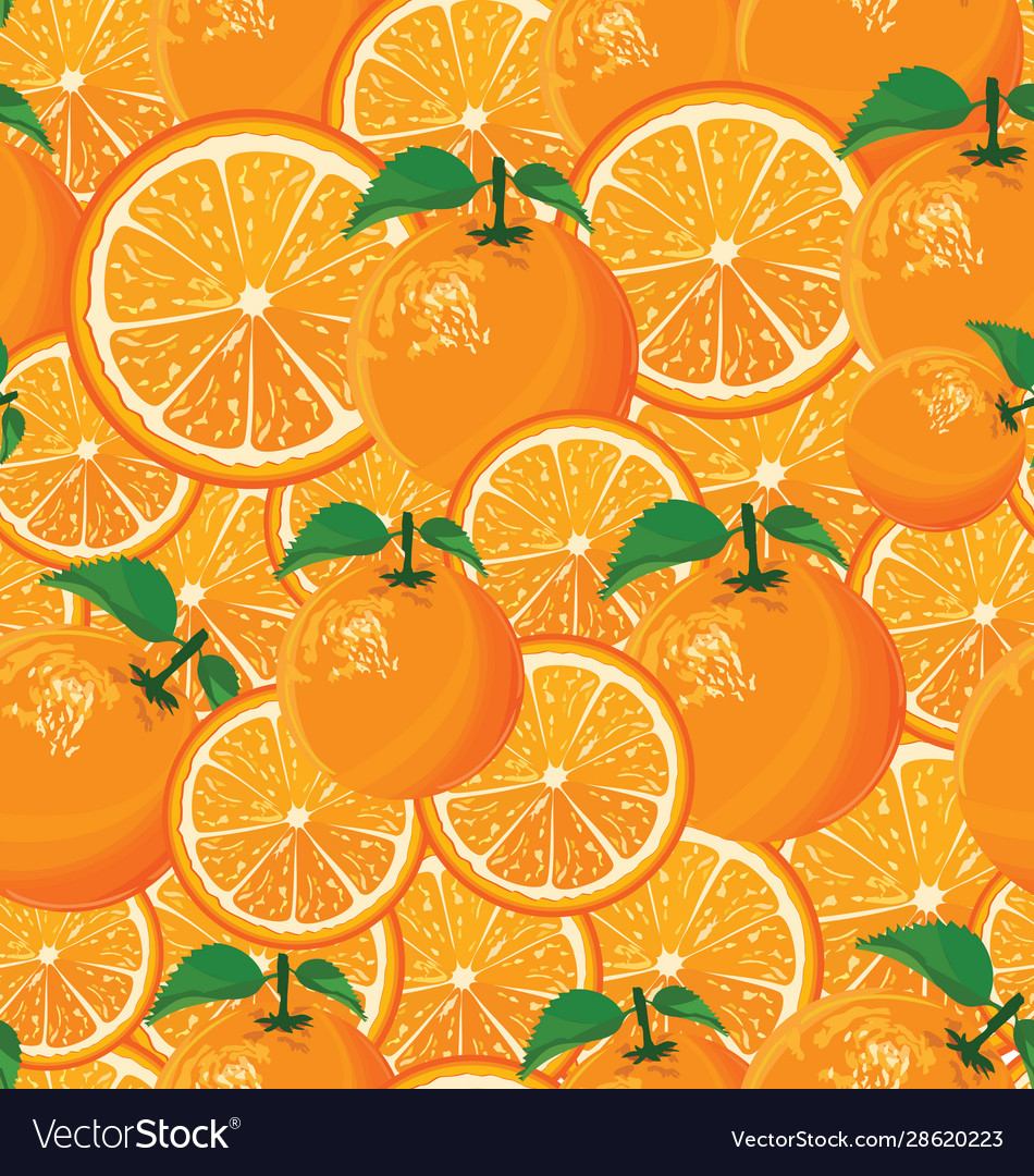 A seamless background oranges