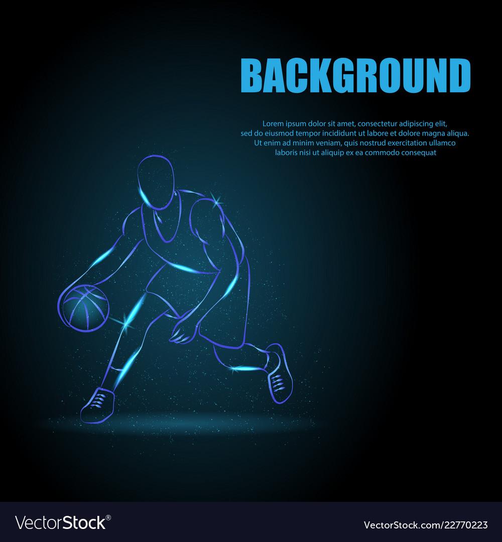 Basketball man background