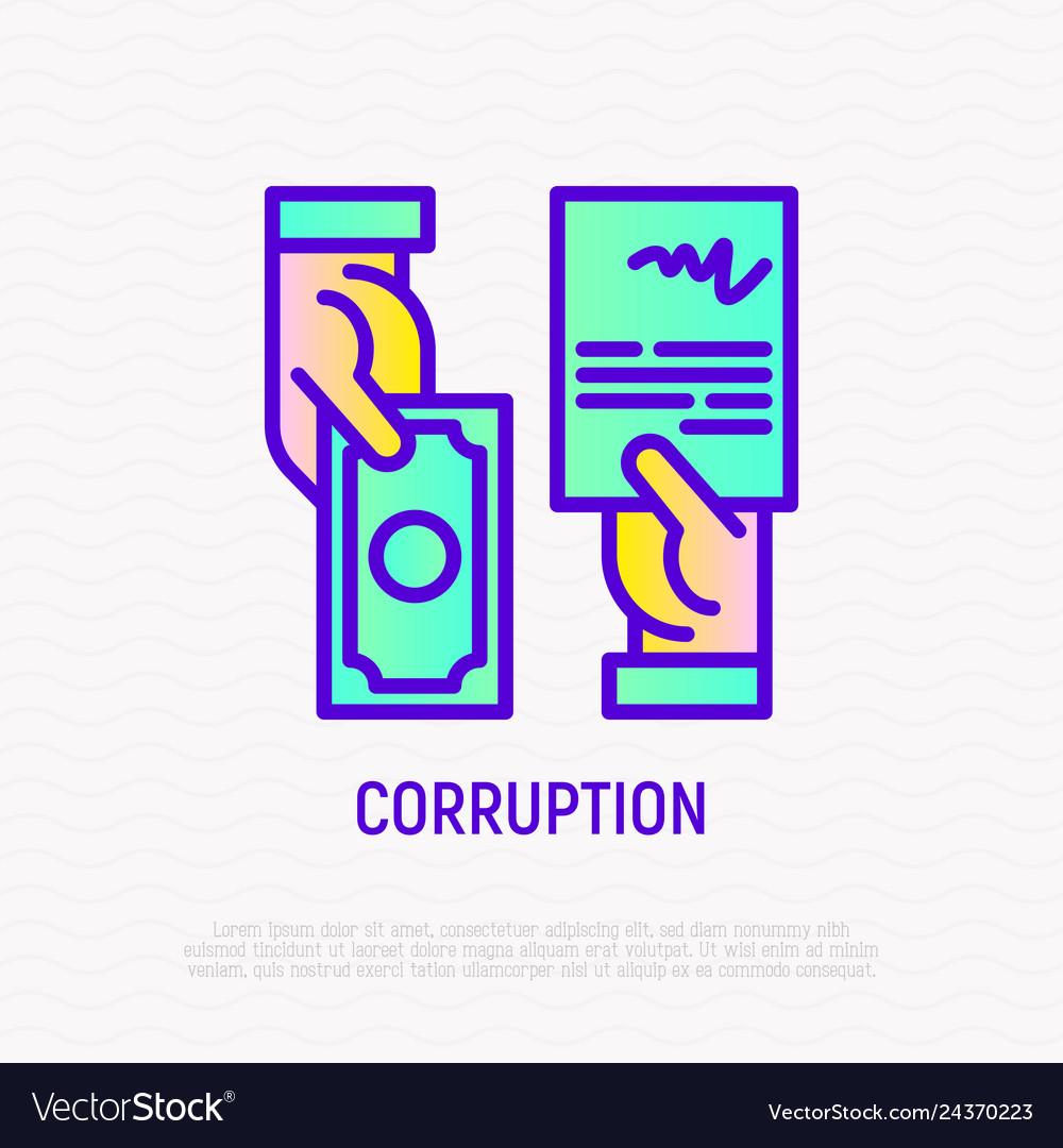 Corruption icon agreement in exchange of money