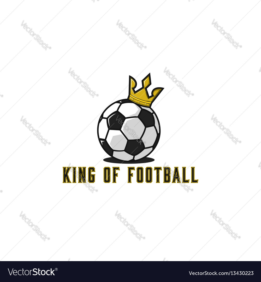 Football ball logo in gold crown lettering t