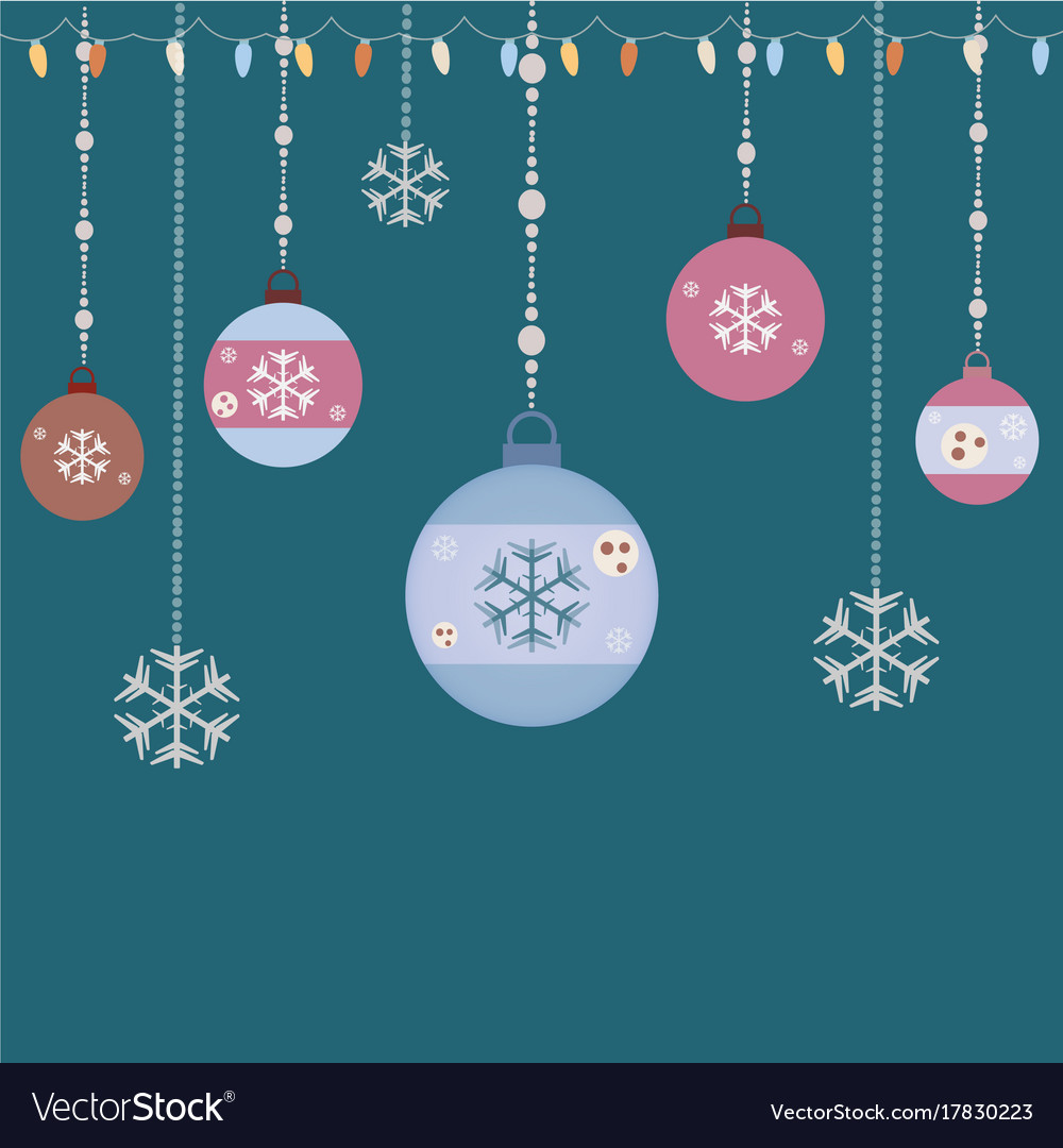 Hanging Ornaments Retro Style Vector Image