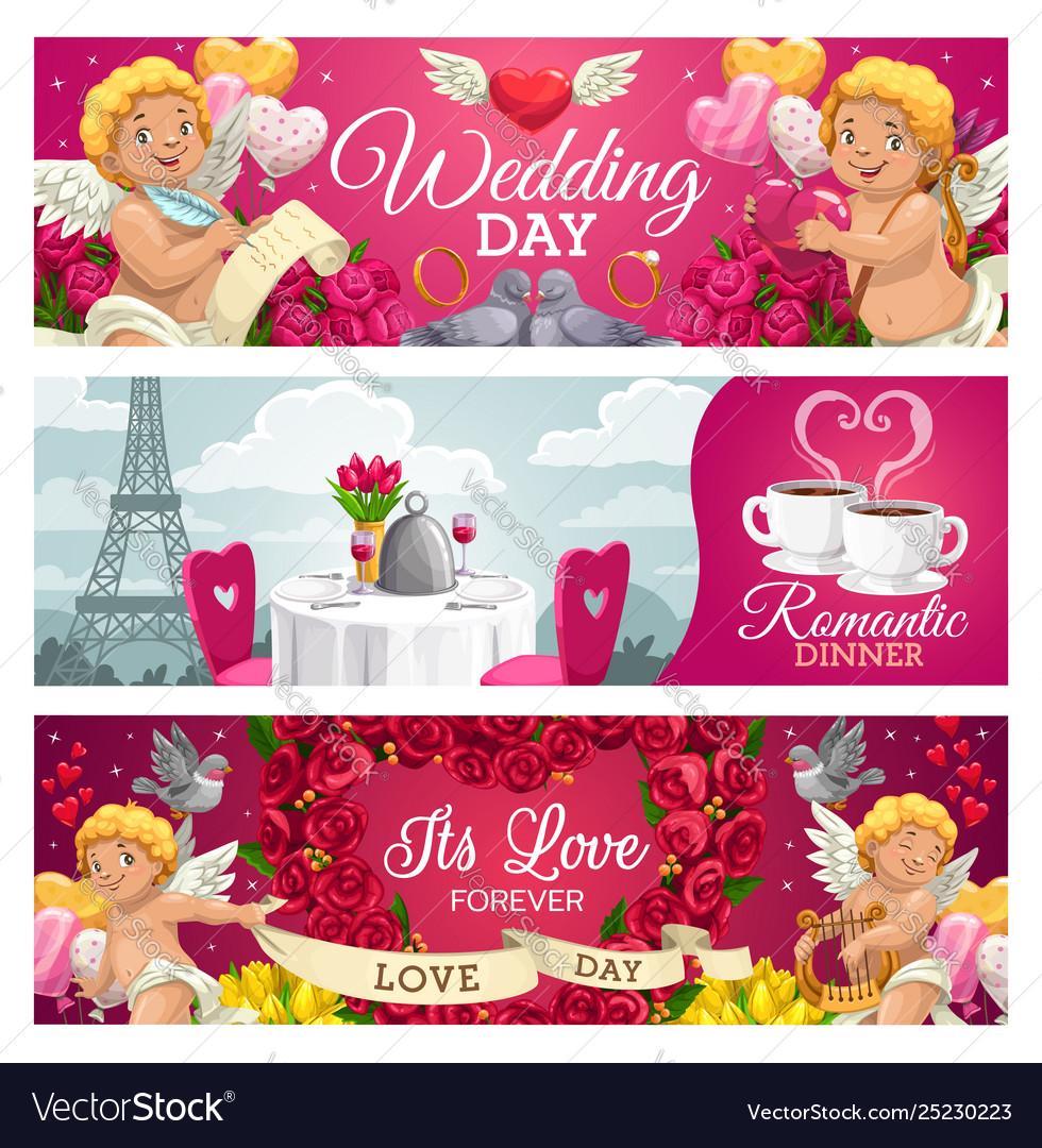 Romantic cards wedding day forever love dinner