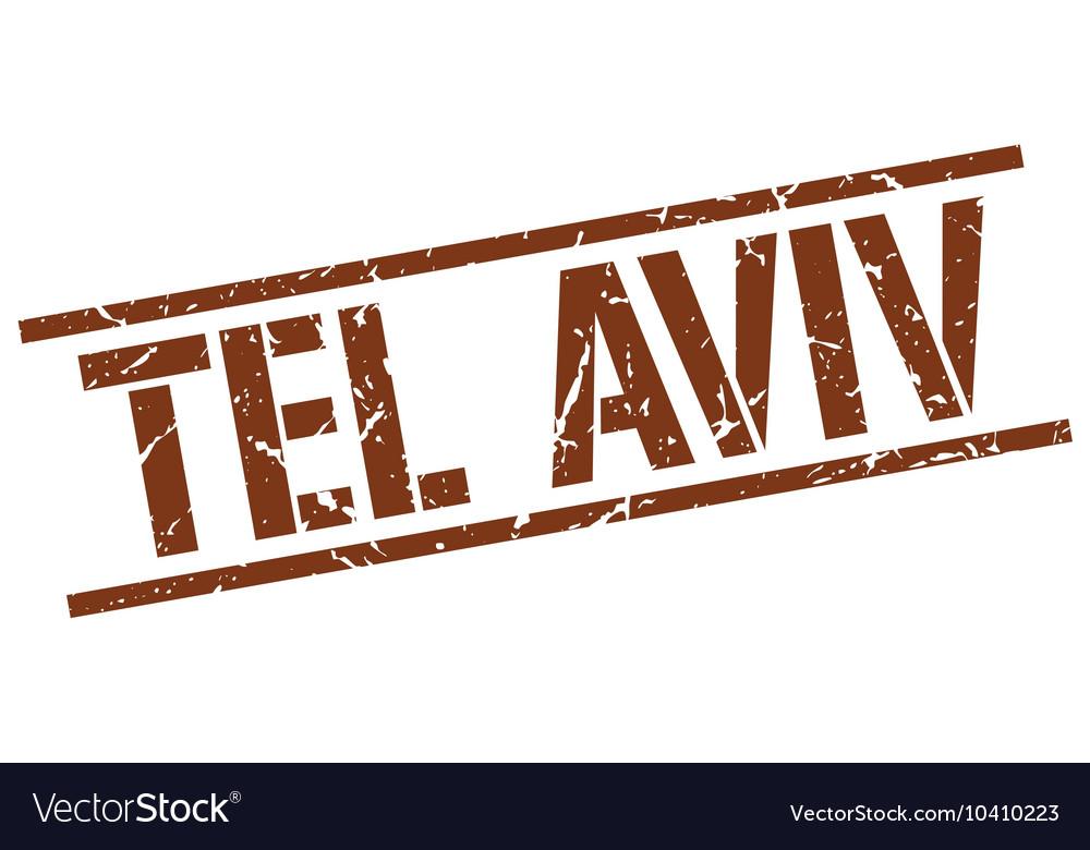 Tel Aviv brown square stamp