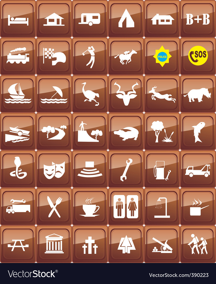 World signs vector image