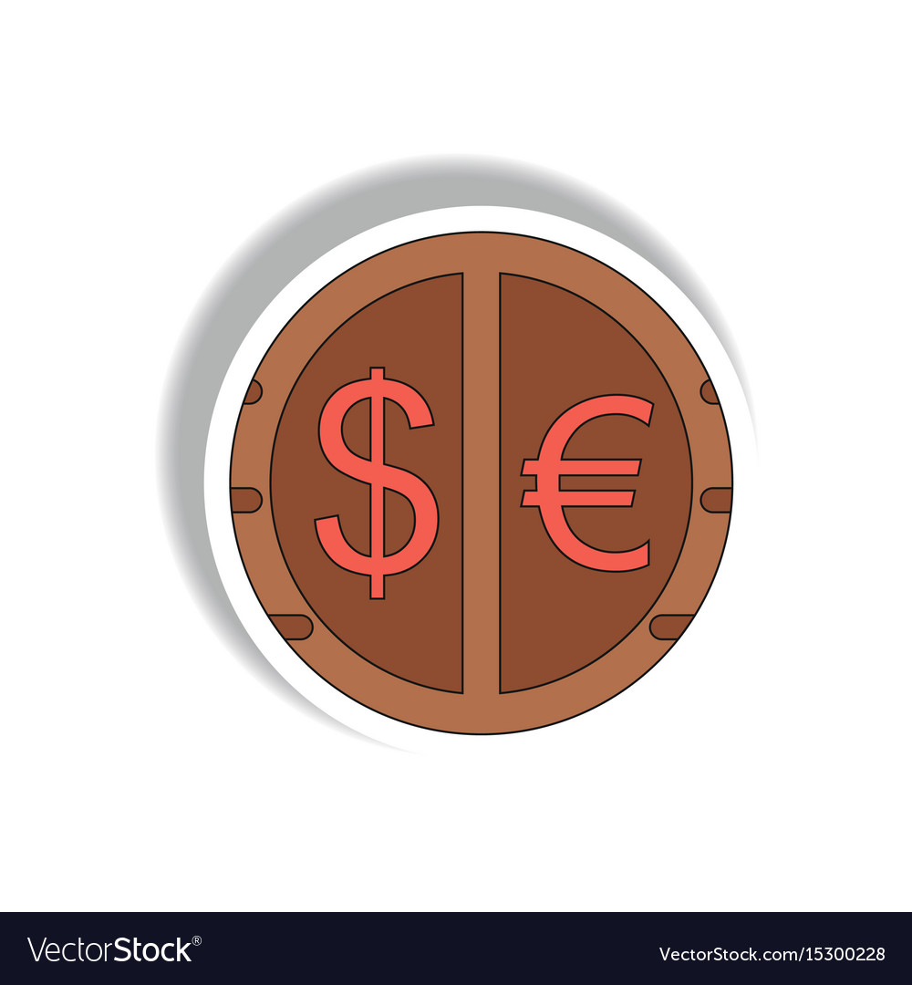 Currency Stock Market Sign In Vector Image