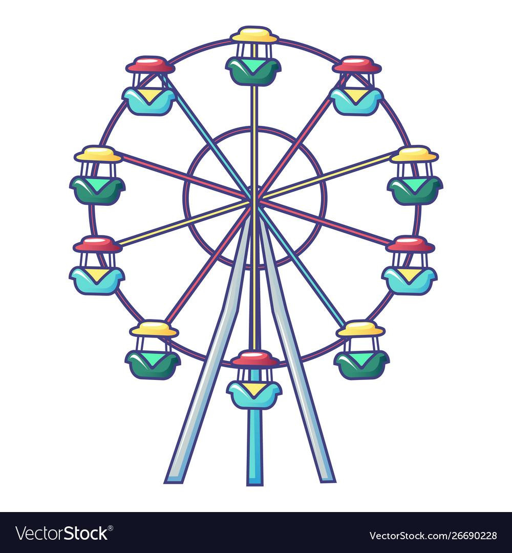 Ferris Wheel Icon Cartoon Style Royalty Free Vector Image