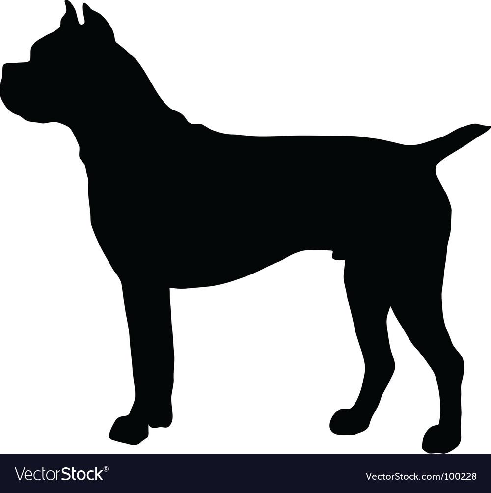 german boxer dog silhouette royalty free vector image rh vectorstock com dog head silhouette vector dog silhouette vector image