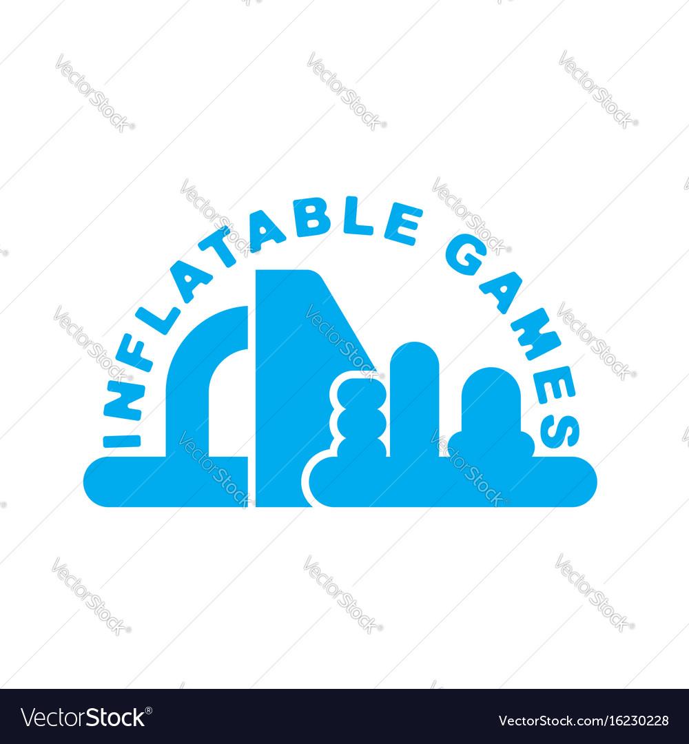 Inflatable games logo emblem for water park