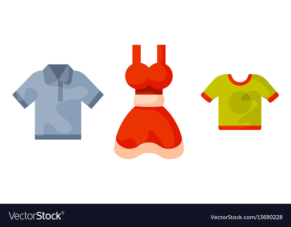 Men s and woman s clothes on hangers vector image